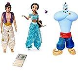 Price Toys Aladdin y Jasmine Colección muñeca clásica de Disney. Exclusivo Incluye Lápiz Set. (Aladdin/Genie/Jasmine)