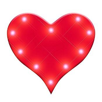 Light Up Perfect 10 Heart Flashing Blinking LED Body Light Lapel Pins  25-Pack