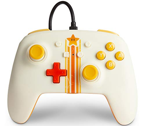 PowerA Enhanced Wired Controller for Nintendo Switch - Vintage Star, Gamepad, Wired Video Game Controller, Gaming Controller - Nintendo Switch