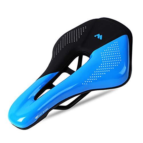 BTY-BICYLEN Sillín de Bicicleta no resbalón, Comodidad Extra Resistente al Agua, Resistente al Agua, cojín de Bicicleta, BMX, Asiento de Ciclismo, sillín para Bicicletas. Black Blue