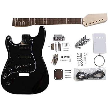 GDPR88L para Zurdos Caoba Arco Parte Superior Cuerpo con Spalted Arce Chapa con Blanco Ribeteado en Cuerpo Guitarra Eléctrica DIY Kit para Estudiante & Luthier Proyectos: Amazon.es: Instrumentos musicales
