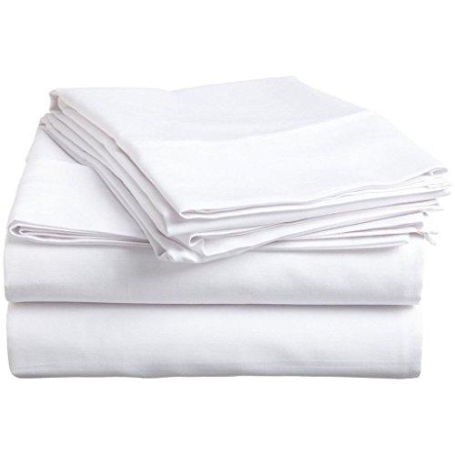 [Hacette] Sbana bajera ajustable de 400 hilos, 100% algodn egipcio, tamao king, color blanco