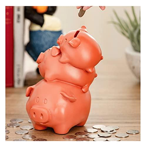 LTCTL huchas Hucha con Forma De Tres Cerdos Banco De Monedas para Niños Banco De Dinero De Resina Bancos De Dinero Bonitos Caja de Dinero (Color : Piggy Bank C)