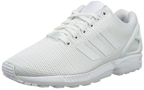 adidas Herren Zx Flux Low-Top Sneakers, Weiß (Ftwr White/Ftwr White/Clear Grey), 36 2/3 EU
