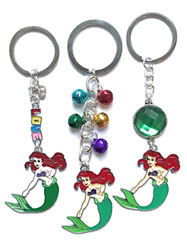 Ariel mermaid princess keyrings - various designs