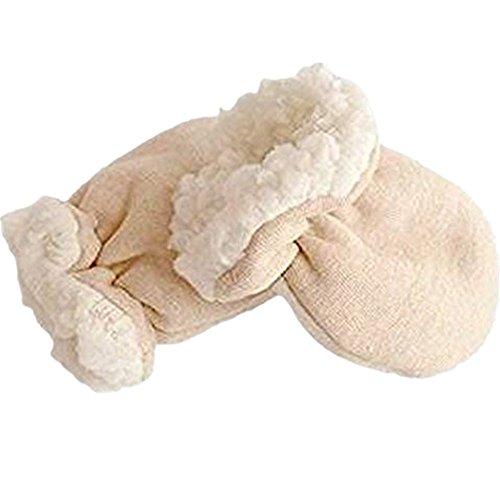 Bébé d'hiver bébé Golves enfants Mitten coton biologique imitation cachemire anti rayures épaissir gant chaud pour (0-6 mois) Enfant Newoborn bébé par Webeauty