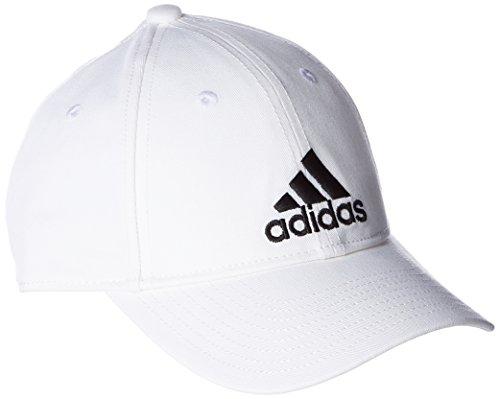 adidas 6 Panel Classic cap Cotton, Headwear Unisex Adulto, White/White/Black, OSFM