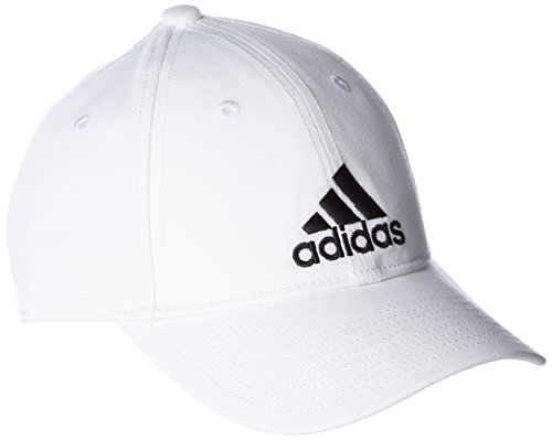 adidas 6P Cap Cotton Hat, White/Black, OSFW