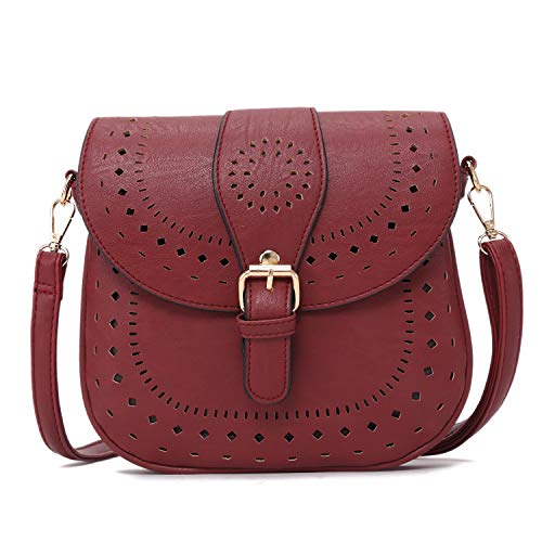 Dimensions:9.8 x 0.8 x 8.7 in, (L25cm x W2cm x H22cm),Weight:0.8 LB. Material: High quality soft PU leather with adjustable and detachable long shoulder strap, durable hardware accessory, smooth zipper. Structure: 2 Large Compartment + 1 Zipper Compa...