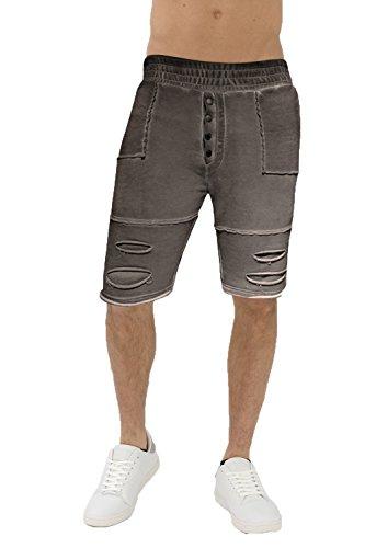 trueprodigy Casual Hombre Marca Jogger Pantalon Basico Ropa Retro Vintage Rock Vestir Moda Vintage Deportivo Slim Fit Designer Cool Urban Fashion Pantalones Cortos Color Antracita 6582102-0403-M