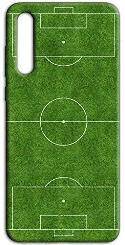 Mixroom - Cover Custodia Case in TPU Silicone Morbida per Samsung Galaxy A30S Fantasia Campo da Calcio H127