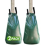 Tree Watering Bag 20 Gallon Watering Bag for Trees with Heavy Duty Zipper Premium PVC Tree Bags Slow Release Drippers Bag for Trees (2 Pack 5-8 Hours Releasing Time)