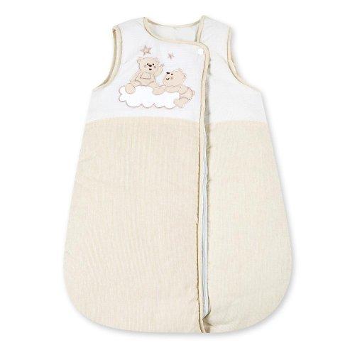Babyschlafsack Schlafsack Schlafsack Baumwolle Ganzjahres Babyschlafsack Joy, Farbe:Beige