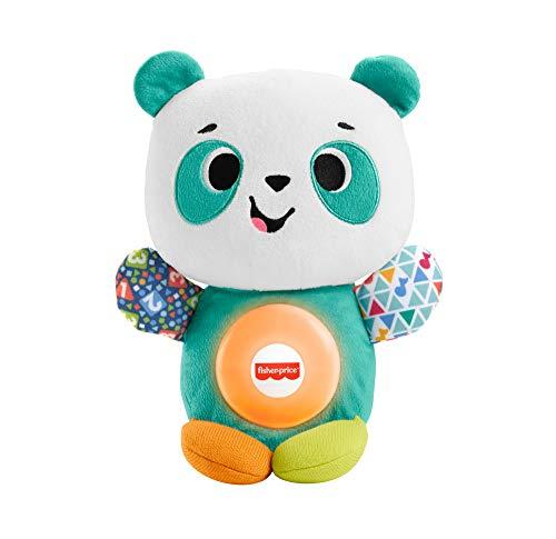 Fisher-Price Linkimals Andrea le Panda, peluche bébé interactive d'apprentissage, jouet sons et lumières, version française, 9 mois et plus, GRW78