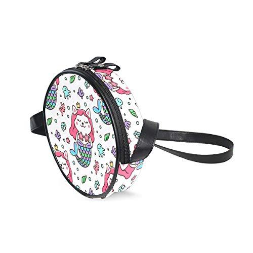 Alan Connie Bolso bandolera portátil para mujeres niñas gato disfraz sirena corona...