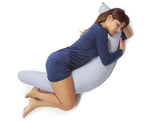 Niimo Stillkissen Schwangerschaftskissen zum schlafen groß XXL erwachsene mit Bezug aus 100% Baumwolle Lagerungskissen Seitenschlaferkissen fur Mutter und Baby in verschiedene Farben