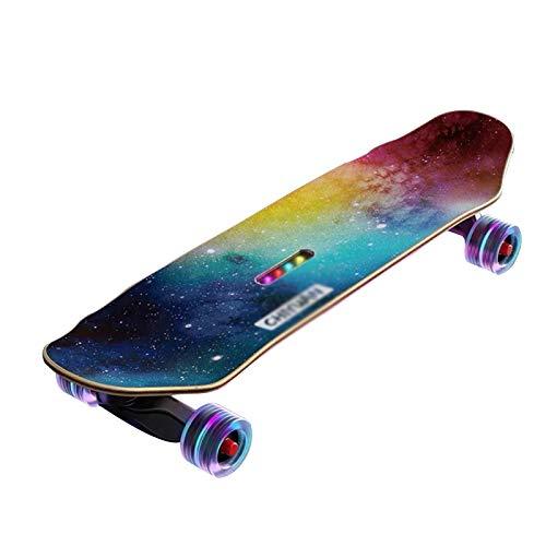 LUO Patinetes para niños Monopatería de música Juvenil, patineta de Cuatro Ruedas con Ruedas Luminosas, Altavoces Bluetooth, Adecuado para Principiantes y niños (Color : Nebula)
