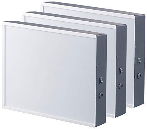 infactory Bilderrahmen beleuchtet: 3er-Set LED-Leuchtkasten für Bilder auf Folie & Papier, DIN A4-Format (LED Bilderrahmen)