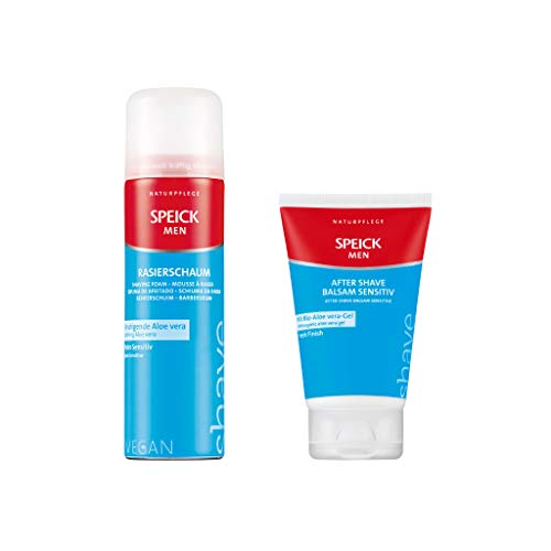 Speick Men Rasierschaum 200 ml + After Shave Balsam sensitiv 100 ml im SET