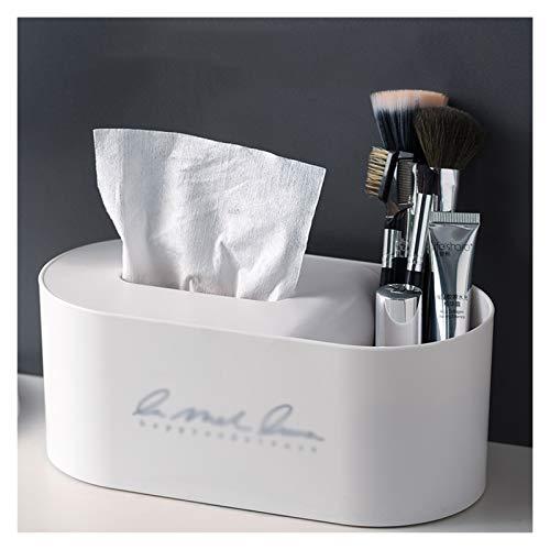 Caja Pañuelos Caja de dispensador de tejido de plástico con una variedad de colores para elegir entre la caja de la servilleta de escritorio con la función de almacenamiento se limpie Dispensador Pañu