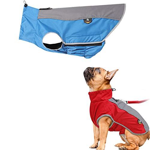 huahuajia Chaqueta Impermeable para Perros Chaqueta Reflectante De Seguridad De Invierno Traje A Prueba De Viento para Perros PequeñOs Medianos Y Grandes Blue,Large
