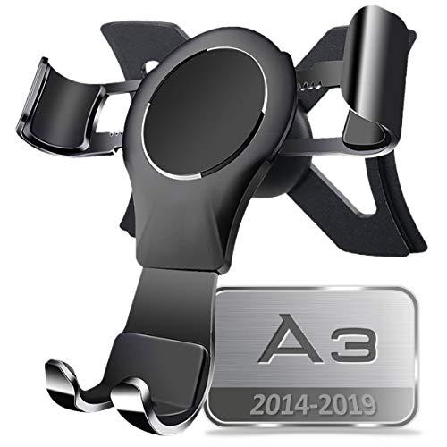 AYADA Handyhalterung für Audi A3 8V, Handy Halter Phone Holder Gravity Auto Lock Stabil ohne Jitter Sportback Hatchback 2013 2014 2015 2016 2017 2018 2019 Zubehör Accessories