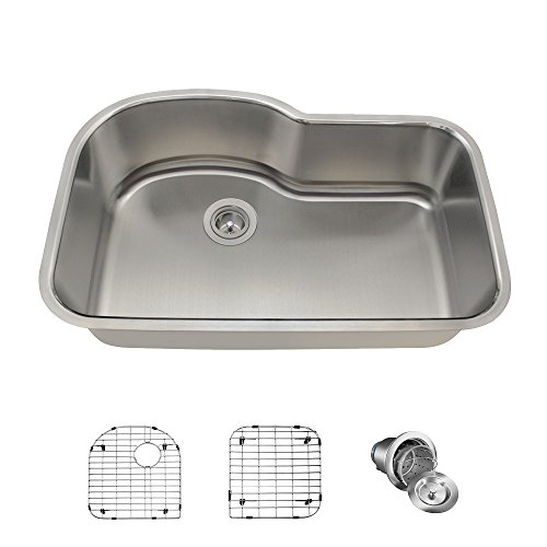 Asymmetrical Stainless Steel Kitchen Sink