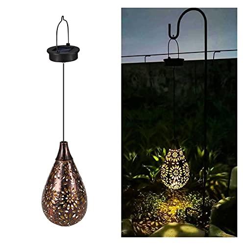 Luz solar LED Linterna Guirnalda Guirnalda impermeable Luz de jardín Colgando Luces de hadas al aire libre para la lámpara solar Garland Decoración del jardín (Emitting Color : Style A)
