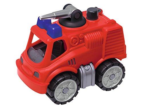 BIG-Power-Worker Mini Feuerwehr - Fahrzeug geeignet als Sandspielzeug und für das Kinderzimmer, Reifen aus Softmaterial, perfekt für unterwegs, für Kinder ab 2 Jahren