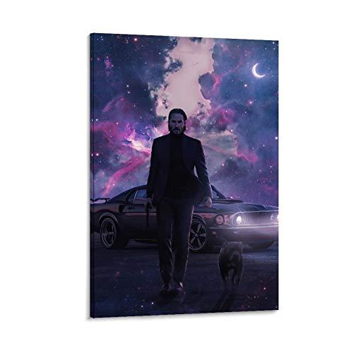 ZMSY John Wick Wallpaper 4K Android Impression sur toile pour chambre familiale moderne 40 x 60 cm
