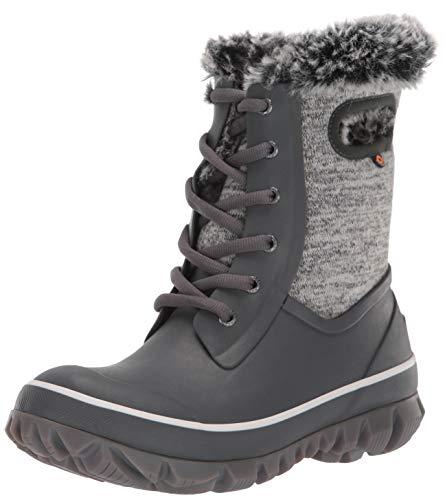 BOGS Women's Arcata Knit Waterproof Insulated Winter Snow Boot, Gray Multi, 7