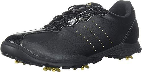 adidas Women's W Adipure DC Golf Shoe, core Black/Gold met./core Black, 8.5 Medium US
