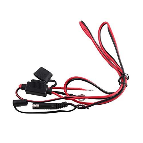 shiqi 12V Dual USB Motocicleta Impermeable SAE a USB TELÉFONO MÓVIL GPS Adaptador de Cable de Cargador en línea Fusible Fuente de alimentación (Color : As Shown)