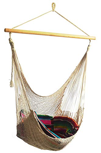 Handmade Yucatan Hammock Chair - Natural Color - True Comfort, True Quality, World's Best Handmade Hammock Chair- 100% No-Hassle Satisfaction Guarantee