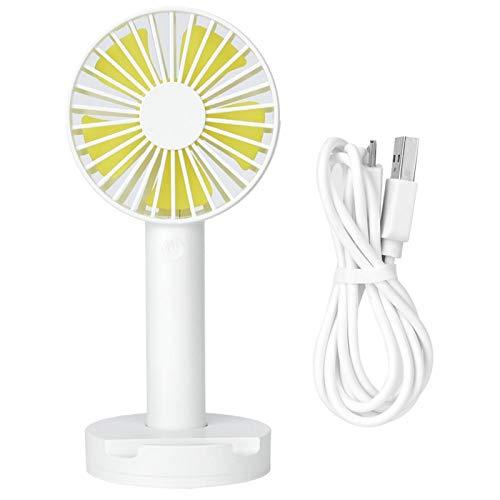 Cosiki Ventilador portátil Ultra silencioso de tamaño pequeño, Ligero, Mini Ventilador eléctrico, USB Recargable para la Familia, Viajes al Aire Libre, Uso en Camping para Coche,(White)