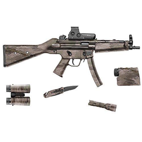 GunSkins Tactical Gear Skin Camouflage Kit DIY Vinyl Wrap 20,3 x 127 cm Blatt, A-TACS Ix