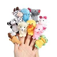 ASDSH 指人形 おもちゃ ベビー用品 赤ちゃん 指人形セット 縫いぐるみ 家族みんなで指人形 物語 童謡 おとぎ話 教育ハンドトイ 布の人形 フィンガー フィンガーハンドパペット ノベルティトイ フィンガードール プロップアニマル フィンガートイ(動物 10個セット)