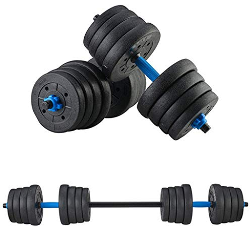 NJ508 Adjustable Weights Dumbbells Set Fitness Dumbbells Set for Men and Women with Connecting Rod Can Be Used As Barbell -66LBS