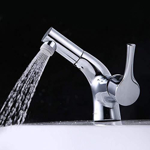 HYLH Badezimmer-Ausziehbecken Einloch-Waschtisch Waschtisch-Mischbatterie in Europa Innovatives Design für den Ziehhahn Erhöhen Sie die Reinigungsfläche Lassen Sie die Rückgewinnung los