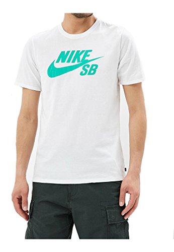 NIKE SB Logo tee 821946-103 Camiseta, Blanco (White 821946/
