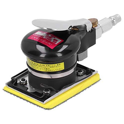 Seacanl Lijadora Orbital aleatoria, Manual Resistente al Desgaste con Mango de Goma, lijadora neumática, 10000 RPM para compuestos de carpintería de Fibra de Vidrio de Metal