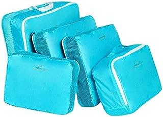 5-piece Travel Bag Organizer Set - Blue