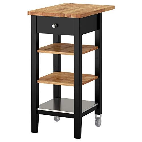 IKEA ASIA STENSTORP - Carro de Cocina, Color Negro y