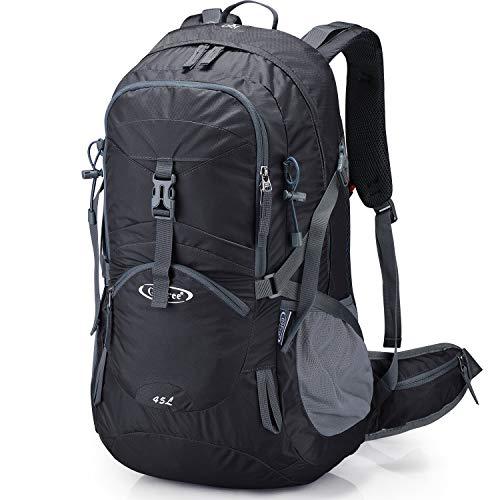 G4Free 45L mit Regenschutz Rucksack Wasserdicht Wandern Gro?e Reise Daypack f¨¹r Outdoor Camping Bergsteigen Trekking