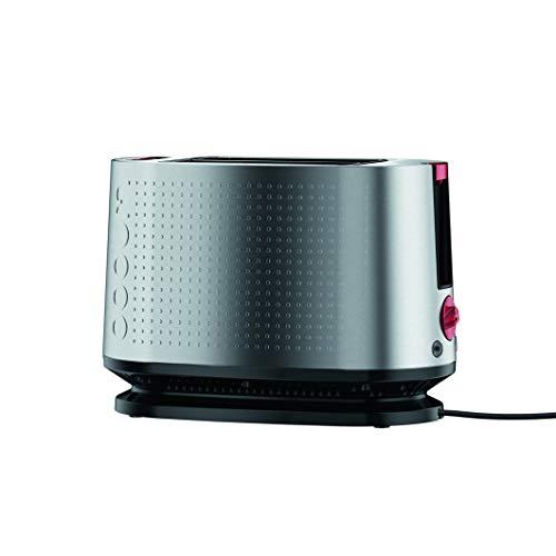 Bodum 10709-57EURO-4 BISTRO Elektrischer Toaster, 2 Schlitze, 800 W, aus satiniertem Edelstahl