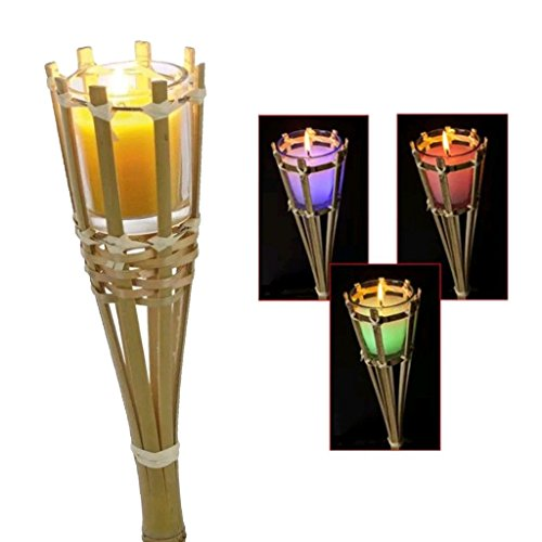 Guaranteed4Less Citronella Candle Colour Changing Torch Mosquito Insect Garden Bamboo Scented (8)