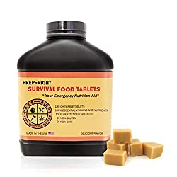 "Prep-Right Survival Food Tablets -""Your Emergency Nutritional..."