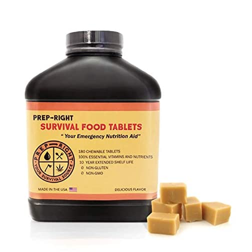 "Prep-Right Survival Food Tablets -""Your Emergency Nutritional Aid"" - Keep giving your body the nutrients needed in a Lifesaving, Emergency, Survival Situation 3"
