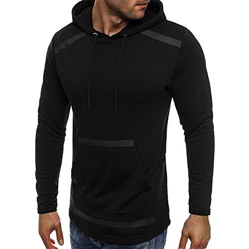 Nuevos hombres parche bolsillo suéter con capucha suéter d