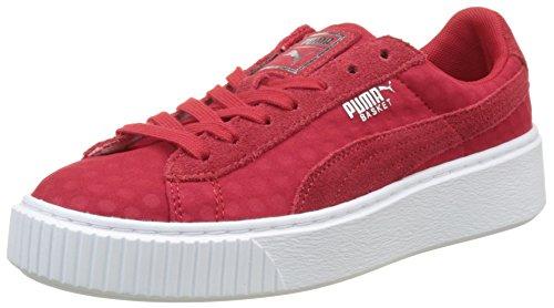 Puma Basket Platform De, Zapatillas Mujer, Rojo (Toreador-Toreador), 40 EU